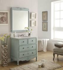 Vintage Bathroom Furniture Adelina 34 Inch Vintage Bathroom Vanity Light Blue Finish