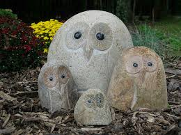 Garden Owl Statue Home Outdoor Decoration