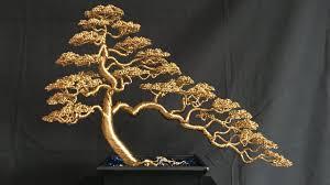 informal upright cascade bonsai wire tree timelapse