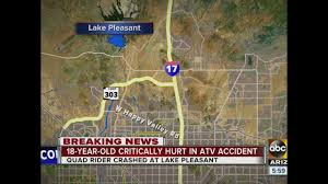 Lake Pleasant Map Man Hospitalized In Critical Condition After Crashing Atv Near