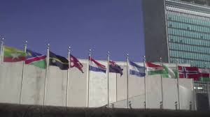 Picture Of Un Flag Flags At The United Nations Youtube