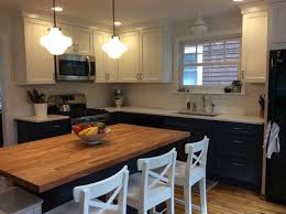 interior white and oak timberlake cabinets for traditional