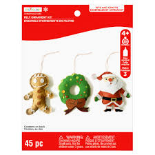 buy the christmas felt ornament craft kit by creatology at michaels