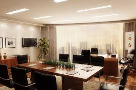 office interior classy office interior with tv 3d model cgtrader
