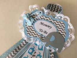 boy baby shower corsage elephant baby shower corsage blue and