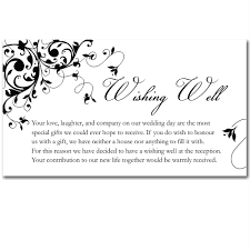 wedding wishes gift registry budget wedding invitations wishing well cards black flourish