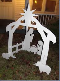 homeschooling hearts minds outdoor nativity set a review