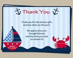 nautical thank you cards nautical ba shower thank you card and green included nautical