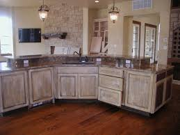 Whitewashed Kitchen Cabinets Amazing White Distressed Kitchen Cabinets With Antique White