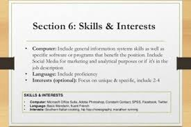 Examples Of Interests For Resume by And Interests Wikihow Hobbies Examples Of Skills To Put On Resume