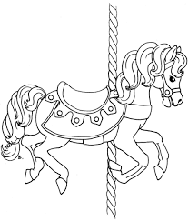 coloring download carousel horse coloring page carousel horse