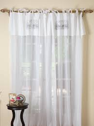 White Cotton Curtains Tie Top White Voile Curtains Decoration And Curtain Ideas