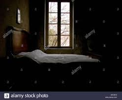 soft light pours through a bedroom window onto an empty