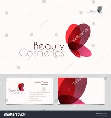 Beauty Spa Business Cards Red Butterfly Vector Sign Business Card Stock Vector 224323315