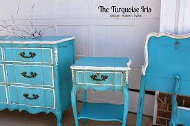 Hand Painted Bedroom Furniture by The Turquoise Iris Furniture U0026 Art Turquoise French Bedroom Set
