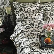 Black And White Toile Duvet Cover Collections Sin In Linen