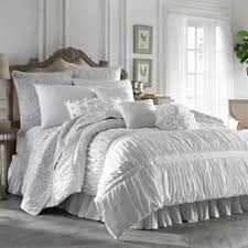 buy white ruched comforter from bed bath u0026 beyond