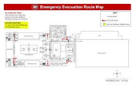 emergency exit map
