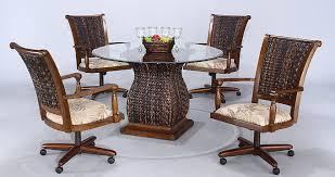 diningroom chairs with wheels chair pads u0026 cushions