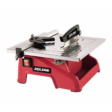 bench tile cutter shop skil 7 in wet dry tabletop tile saw at lowes com