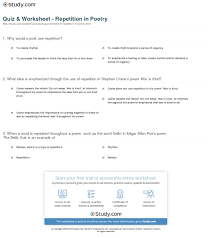 poetry worksheets middle free worksheets library download