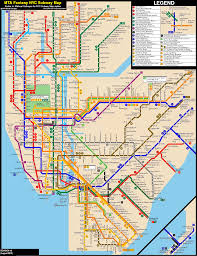 Queens College Map New York City Subway Fantasy Map Revision 19 By Ecinc2xxx On