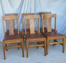 Mission Oak Dining Chairs Antique Mission Oak Michigan Chair Co Fern Plant Jardinier Stand