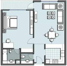 Tiny House Floor Plans One Room Floor Plan One Room Floor Plan - One bedroom house designs