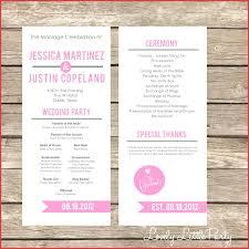 unique wedding programs template unique wedding program template