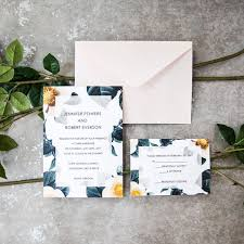 wedding invitations greenery tropical greenery wedding invitation suite ewi418 as low as 0 94