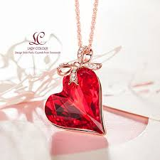 ruby gifts mothers day gifts swarovski crystals ladycolour ruby necklace