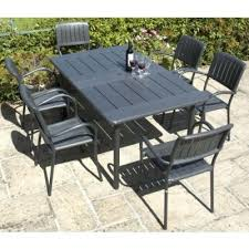 Patio Table And 6 Chairs 6 Chair Garden Patio Sets Metal Resin Wooden Furniture 5