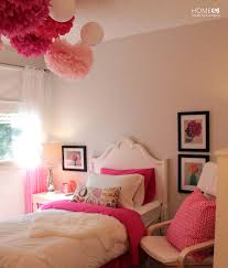 small princess pink bedroom ideas with nice simple bed and bedside