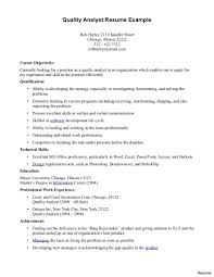 quality assurance resume exles printable of quality assurance resume exles software food