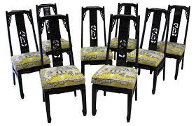 asian style thibaut luzon chairs s 8 mid century modern louis