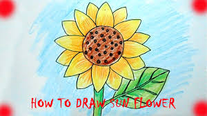 how to draw sun flower youtube