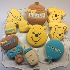 Classic Pooh Baby Shower Favors Winnie The Pooh Baby Shower Cookies Baby Shower Cookies Cheer And