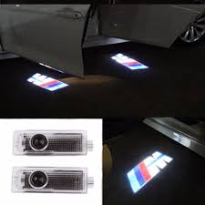 bmw laser headlights pack of 2 bmw m power car door led logo light ghost shadow