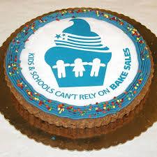 birthday cookie cake personalized chocolate chip cookie cake w company logo