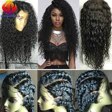 momgolian curly lacefront human hair wigs with baby hair full lace