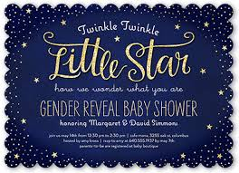 twinkle twinkle baby shower invitations twinkle 5x7 photo card invitations shutterfly