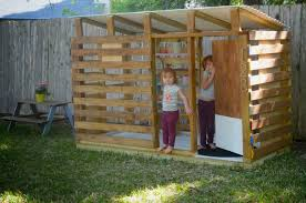 Backyard Playhouse Ideas Modern Diy Outdoor Playhouse Tour And How To