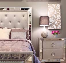 celine 5 piece mirrored and tufted king size bedroom