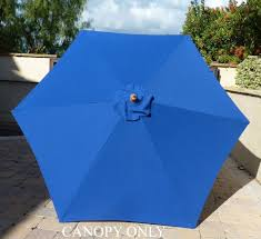 Sun Garden Easy Sun Parasol Replacement Canopy by Amazon Com 9ft Umbrella Replacement Canopy 6 Ribs In Royal Blue