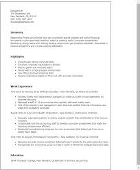 Finance Resume Templates Professional Financial Controller Templates To Showcase Your