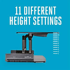 amazon com varidesk height adjustable standing desk pro 36