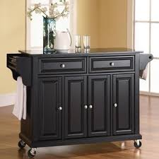 black granite kitchen island black kitchen islands carts you ll wayfair
