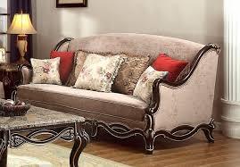 victorian beige sofa with birch wood frame in ebony u0026 gold