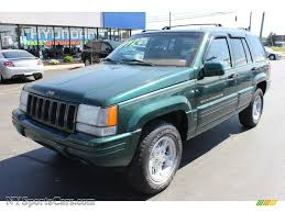 green jeep cherokee 1998 jeep grand cherokee limited 4x4 in forest green pearlcoat