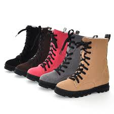 womens boots zip up 5 color ankle boots toe flat with shoes boots zip lace